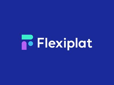 flexiplat f logo f flex salary education build puzzle flexible finance money branding logo