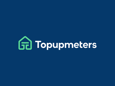 Topupmeters line pipeline cable pipe identity branding logo payment electricity gas energy rent home house tenant