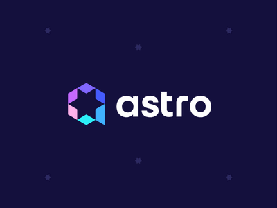 astro a logo technology modern negative space logo geometry galactic galaxy stars cosmos lettermark identity branding logo geometric star a astro