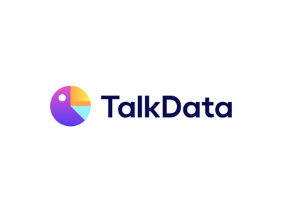 TalkData infographic pie chart chart bird gradient branding logo diagram data talk parrot
