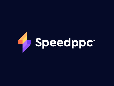 Speedppc s logo clean identity company branding company logo lightning bolt connect compaign construction bulding isometric simple s letter speed bolt ppc