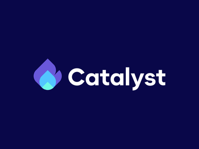 Catalyst geometry connection hot flame chemistry geometric catalyst fire branding logo