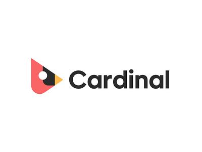 Cardinal geometric bird bird logo mascot bird cardinal branding logo