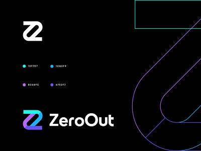 ZeroOut z e r o z z letter logo z 0 o logo monogram logo zero shop merchant shopping monogram z logo 0 logo branding logo