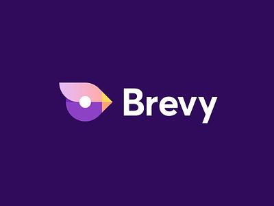Brevy logo bird logo collaboration team branding animal mascot bird