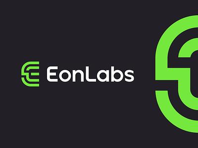 EonLabs software design data branding design branding and identity finance branding line startup technology fintech app software e logo e fintech