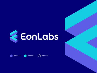 EonLabs isometric cube technology fintech app software finance startum monogram construction build fintech l logo e logo e el logo