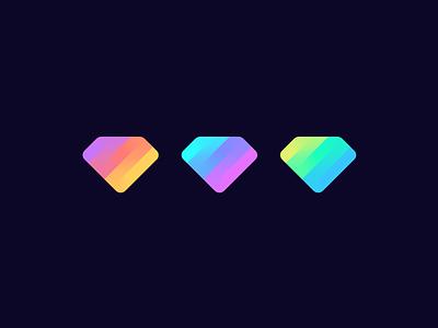Gem cryptocurrecly crypto blockchain design geometric mark identity symbol branding logo jewel gradient diamond gem