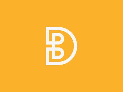 Personal / monogram / D / B / logo design contrast8 deividas bielskis symbol mark designer b d monogram logo branding personal