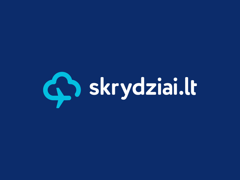 skrydziai.lt  / logo design trip travel skrydziai sky monoline avia flight airline cloud plane
