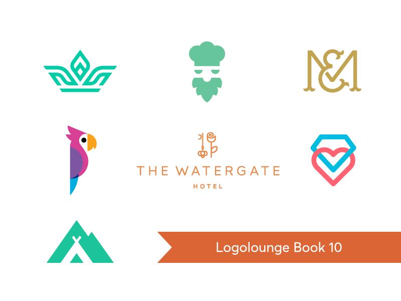 Logolounge Book 10 / selected logos flat smart creative book symbol mark logos logo award logolounge