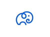 Elephant / monoline / logo design