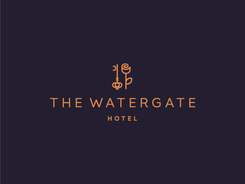 Watergate hotel logo design by deividas bielskis for Hotel logo design