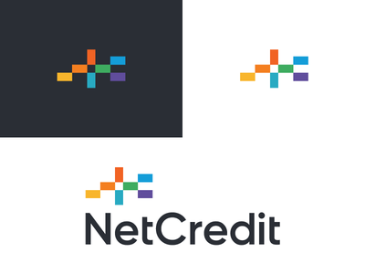 Netcredit / logo design identity branding calculation logo finance mathematics loan