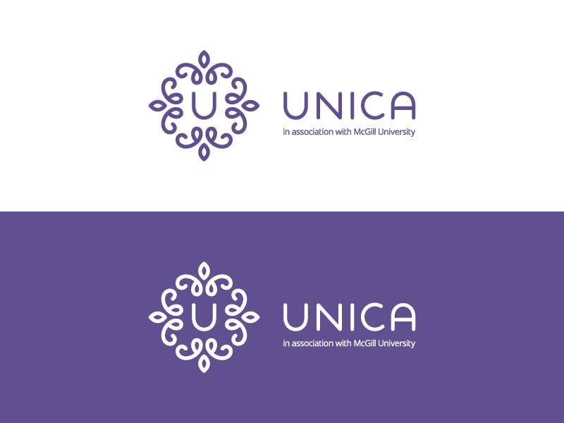 Unica / logo design logo branding u ornament medicine medical floral clinic fertility