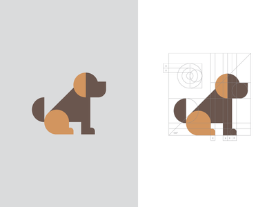 Dog / logo design hound logo symbol mascot animal geometric dog