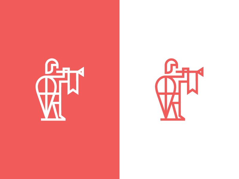 Soldier / logo design shields helmet line character knight agency creative shield symbol mark medieval herald trumpet soldier