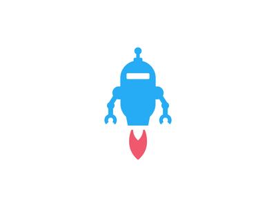 robot logo design by deividas bielskis dribbble