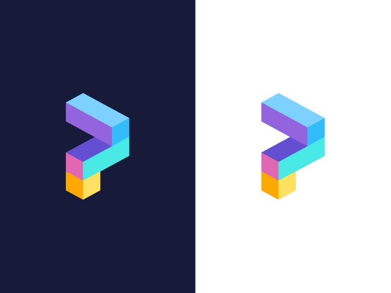 P Design: P / Logo Design By Deividas Bielskis