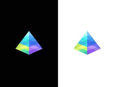 Prism / spectrum / light / logo design sun light pyramide pyramids triangle geometry deividas bielskis digital seo vector geometric symbol mark logo abstract 3d spectrum color prism