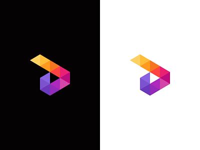 D / arrow / logo design logo polygon poly wings arrow d