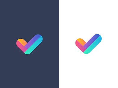 checkmark / logo design branding gradient symbol mark logo v verified checkmark