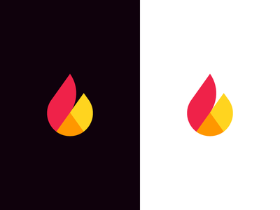 Flame / chart pie / b / logo design statistics statistic stats analysis geometrical shapes geometrical data analytics data hot creativity geometric origami identity. branding logo b management chart flame fire