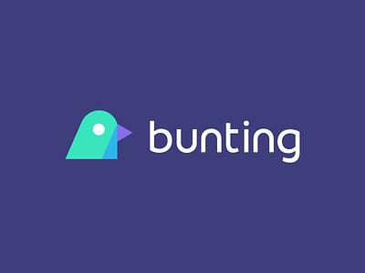 Bunting / bird / logo design ecommerce bird logo mark symbol iconic head painted bunting