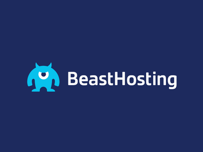 BeastHosting / logo design branding mascot logo data beast monster hosting