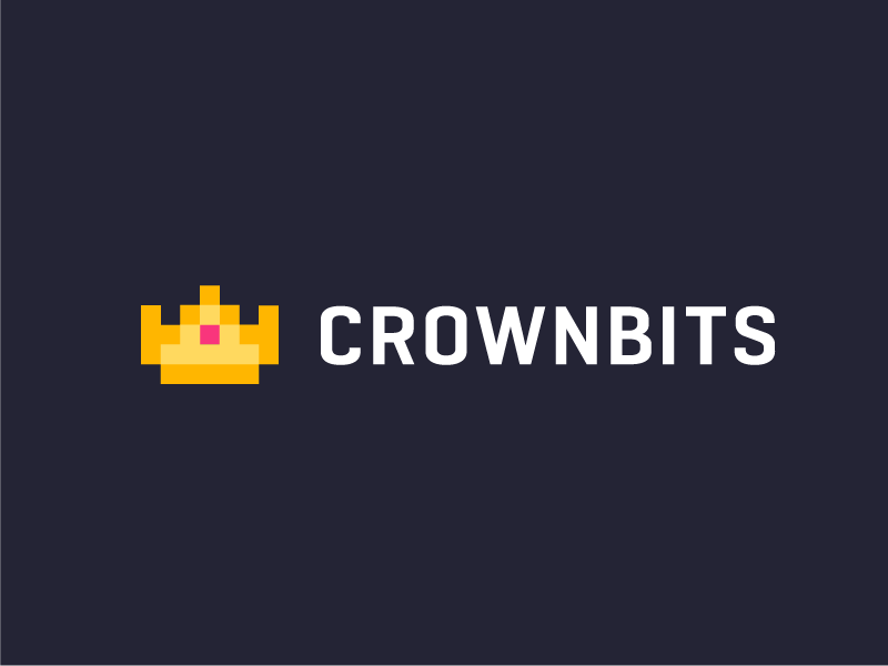 crownbits minimalist 8 bit retro games crown logo