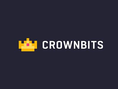 Indie / crown / logo design branding mark logo gaming bit bits crown indie indie game