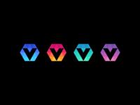 blockchain / V / data / logo design