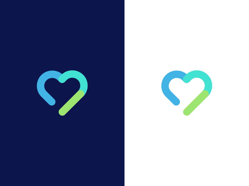 heart / health / connectivity / logo design care love family doctor information booking data management connect connectivity health heart