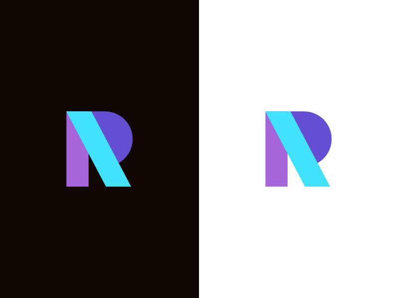R / logo design symbol mark logo color abstract lettermark r