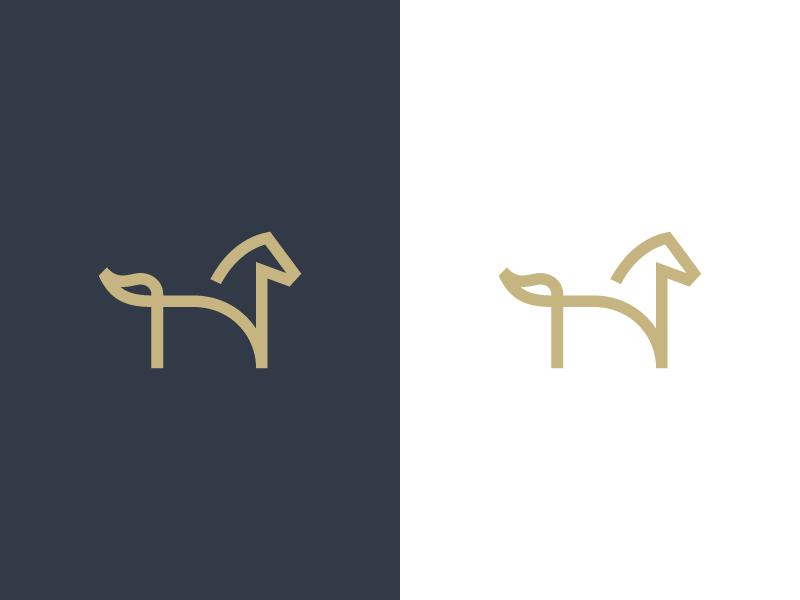 H / horse logo design stallion ecommerce branding identity lettermark h line horse