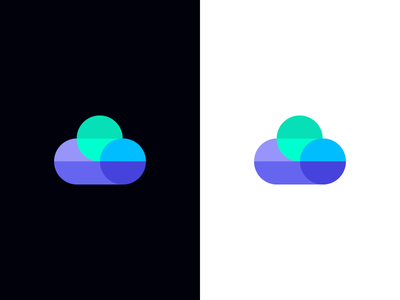 cloud / data / logo design mobile geometry tech app server technology digital symbol mark logo data cloud