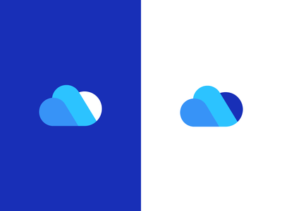 cloud / logo design saas clean management services modern symbol mark server data logo hosting cloud