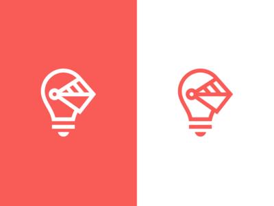 Creative Soldier / logo design light bulb light brainstorm ideastorm idea smart identity logo agency creative medieval warrior helmet knight soldier bulb