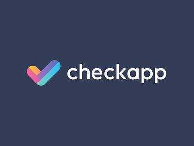 checkapp / logo design deividas logo designer app logo v audit to do list checkup analysis marketing clean color designer schedule mark logo gradient list check mark check