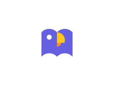parrot / book / logo design