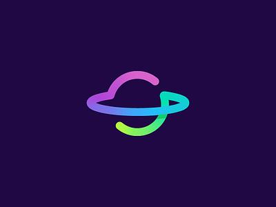 S / Planet / Space / logo design logo designer logo inspiration creative logo modern logo saturn jupiter orbit startup technology astronomy monoline color gradient mercury cosmos astro monogram s space planet
