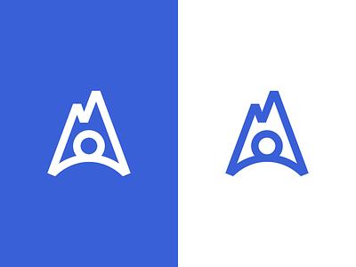 Human / mountain / Logo design hill symbol mark logo summit peak top person climb mountain rock human