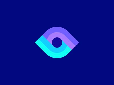 Eye / logo design combine unite merge connect sight seeing logo designer visual startup technology digital abstract vision optic branding identity symbol mark logo eye