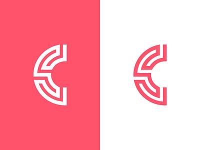 C / logo design maze geometric greek letter lettermark branding identity symbol mark logo ornament abstract c