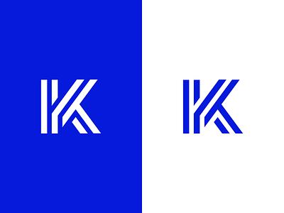 K / logo design lettermark symbol mark logo abstract art k escher