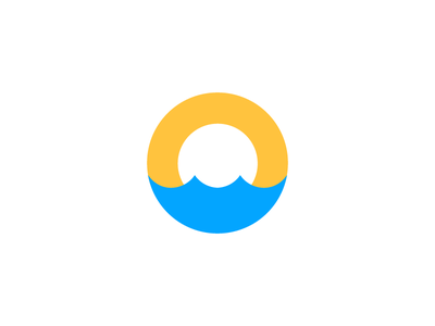 Oasis / sun / O / Desert / water / logo design branding logo icon smart sea oases oasis water desert sun o