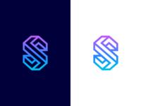 S / 3D / illusion / logo design