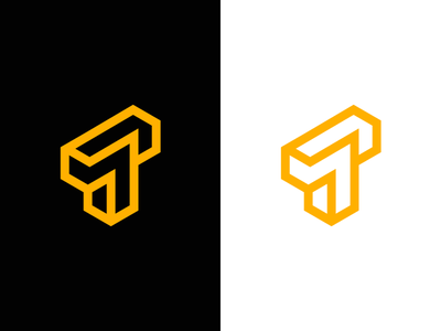 T / puzzle / logo design creative identity 3d modern logo industrial construction maze puzzle lettermark t