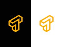 T / puzzle / logo design