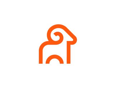 Ram / logo design deividas bielskis horns animal character beast pet goat identity brand icon line simple mascot animal ram